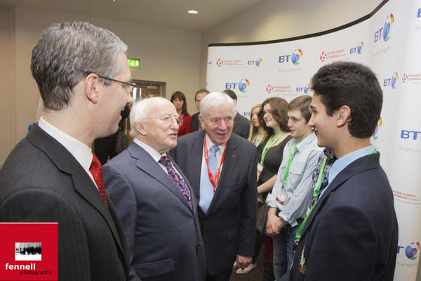 Meeting President Higgins