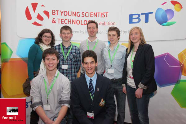 With the previous winners of the Young Scientist